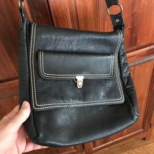 Handbags - Dark blue leather vintage purse